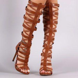 307b5344430 Women s Brown Caged Gladiator Heels on Poshmark